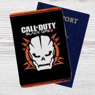 Call Of Duty Black Ops 3 Skull Custom Leather Passport Wallet Case Cover