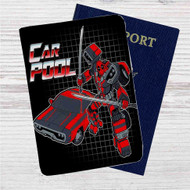 Car Pool Deadpool Custom Leather Passport Wallet Case Cover