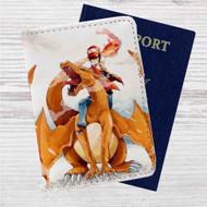 Charmander & Ash Pokemon Art Custom Leather Passport Wallet Case Cover