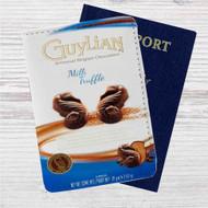 Guylian Chocolate Custom Leather Passport Wallet Case Cover