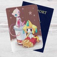 Pokemon Mew McDonald Custom Leather Passport Wallet Case Cover