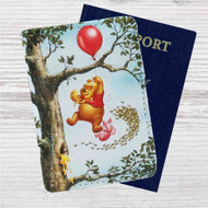 Pooh and Piglet Custom Leather Passport Wallet Case Cover