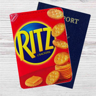 Rit'z Crackers Custom Leather Passport Wallet Case Cover
