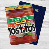 Tostitos Medium Chunky Salsa Custom Leather Passport Wallet Case Cover
