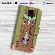 Bojack Horseman Face Custom Leather Wallet iPhone 4/4S 5S/C 6/6S Plus 7| Samsung Galaxy S4 S5 S6 S7 Note 3 4 5| LG G2 G3 G4| Motorola Moto X X2 Nexus 6| Sony Z3 Z4 Mini| HTC ONE X M7 M8 M9 Case