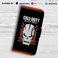 Call Of Duty Black Ops 3 Skull Custom Leather Wallet iPhone 4/4S 5S/C 6/6S Plus 7| Samsung Galaxy S4 S5 S6 S7 Note 3 4 5| LG G2 G3 G4| Motorola Moto X X2 Nexus 6| Sony Z3 Z4 Mini| HTC ONE X M7 M8 M9 Case