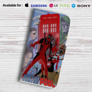 Doctor Who Deadpool Custom Leather Wallet iPhone 4/4S 5S/C 6/6S Plus 7| Samsung Galaxy S4 S5 S6 S7 Note 3 4 5| LG G2 G3 G4| Motorola Moto X X2 Nexus 6| Sony Z3 Z4 Mini| HTC ONE X M7 M8 M9 Case