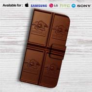 Domingo Ghirardelli Chocolate Custom Leather Wallet iPhone 4/4S 5S/C 6/6S Plus 7| Samsung Galaxy S4 S5 S6 S7 Note 3 4 5| LG G2 G3 G4| Motorola Moto X X2 Nexus 6| Sony Z3 Z4 Mini| HTC ONE X M7 M8 M9 Case