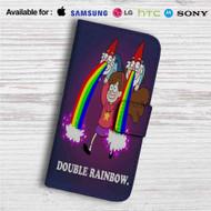 Double Rainbow Gravity Falls Custom Leather Wallet iPhone 4/4S 5S/C 6/6S Plus 7| Samsung Galaxy S4 S5 S6 S7 Note 3 4 5| LG G2 G3 G4| Motorola Moto X X2 Nexus 6| Sony Z3 Z4 Mini| HTC ONE X M7 M8 M9 Case