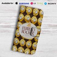 Ferrero Rocher Chocolate Custom Leather Wallet iPhone 4/4S 5S/C 6/6S Plus 7| Samsung Galaxy S4 S5 S6 S7 Note 3 4 5| LG G2 G3 G4| Motorola Moto X X2 Nexus 6| Sony Z3 Z4 Mini| HTC ONE X M7 M8 M9 Case