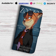 Judy and Nick Cover Models Zootopia Custom Leather Wallet iPhone 4/4S 5S/C 6/6S Plus 7| Samsung Galaxy S4 S5 S6 S7 Note 3 4 5| LG G2 G3 G4| Motorola Moto X X2 Nexus 6| Sony Z3 Z4 Mini| HTC ONE X M7 M8 M9 Case