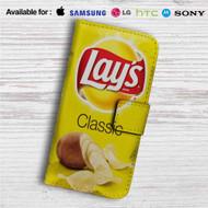 Lay's Classic Custom Leather Wallet iPhone 4/4S 5S/C 6/6S Plus 7  Samsung Galaxy S4 S5 S6 S7 Note 3 4 5  LG G2 G3 G4  Motorola Moto X X2 Nexus 6  Sony Z3 Z4 Mini  HTC ONE X M7 M8 M9 Case