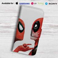 Spiderman Deadpool Custom Leather Wallet iPhone 4/4S 5S/C 6/6S Plus 7| Samsung Galaxy S4 S5 S6 S7 Note 3 4 5| LG G2 G3 G4| Motorola Moto X X2 Nexus 6| Sony Z3 Z4 Mini| HTC ONE X M7 M8 M9 Case