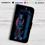 Stitch Doctor Who Custom Leather Wallet iPhone 4/4S 5S/C 6/6S Plus 7| Samsung Galaxy S4 S5 S6 S7 Note 3 4 5| LG G2 G3 G4| Motorola Moto X X2 Nexus 6| Sony Z3 Z4 Mini| HTC ONE X M7 M8 M9 Case