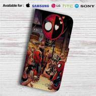 Superhero Drunk Spiderman Deadpool Custom Leather Wallet iPhone 4/4S 5S/C 6/6S Plus 7| Samsung Galaxy S4 S5 S6 S7 Note 3 4 5| LG G2 G3 G4| Motorola Moto X X2 Nexus 6| Sony Z3 Z4 Mini| HTC ONE X M7 M8 M9 Case