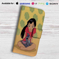 Teenage Lilo with Stitch Custom Leather Wallet iPhone 4/4S 5S/C 6/6S Plus 7| Samsung Galaxy S4 S5 S6 S7 Note 3 4 5| LG G2 G3 G4| Motorola Moto X X2 Nexus 6| Sony Z3 Z4 Mini| HTC ONE X M7 M8 M9 Case