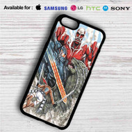 Attack on Godzilla iPhone 4/4S 5 S/C/SE 6/6S Plus 7  Samsung Galaxy S4 S5 S6 S7 NOTE 3 4 5  LG G2 G3 G4  MOTOROLA MOTO X X2 NEXUS 6  SONY Z3 Z4 MINI  HTC ONE X M7 M8 M9 M8 MINI CASE