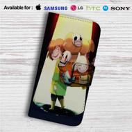 Zelda Undertale Custom Leather Wallet iPhone 4/4S 5S/C 6/6S Plus 7  Samsung Galaxy S4 S5 S6 S7 Note 3 4 5  LG G2 G3 G4  Motorola Moto X X2 Nexus 6  Sony Z3 Z4 Mini  HTC ONE X M7 M8 M9 Case