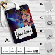 Disney Princesses Take Selfies Custom Leather Luggage Tag