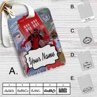 Doctor Who Deadpool Custom Leather Luggage Tag
