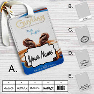 Guylian Chocolate Custom Leather Luggage Tag