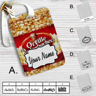 Orville Redenbacher Custom Leather Luggage Tag