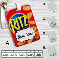 Rit'z Crackers Custom Leather Luggage Tag