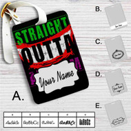 Straight Outta Arkham Batman Joker Custom Leather Luggage Tag