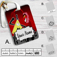 Bill Cipher vs HIM Custom Leather Luggage Tag