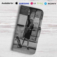 Angus Young of ACDC Custom Leather Wallet iPhone 4/4S 5S/C 6/6S Plus 7| Samsung Galaxy S4 S5 S6 S7 Note 3 4 5| LG G2 G3 G4| Motorola Moto X X2 Nexus 6| Sony Z3 Z4 Mini| HTC ONE X M7 M8 M9 Case