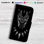 Black Panther Marvel Superheroes Custom Leather Wallet iPhone 4/4S 5S/C 6/6S Plus 7| Samsung Galaxy S4 S5 S6 S7 Note 3 4 5| LG G2 G3 G4| Motorola Moto X X2 Nexus 6| Sony Z3 Z4 Mini| HTC ONE X M7 M8 M9 Case