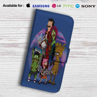 Bob's Burgers as Guardians of the Galaxy Custom Leather Wallet iPhone 4/4S 5S/C 6/6S Plus 7| Samsung Galaxy S4 S5 S6 S7 Note 3 4 5| LG G2 G3 G4| Motorola Moto X X2 Nexus 6| Sony Z3 Z4 Mini| HTC ONE X M7 M8 M9 Case