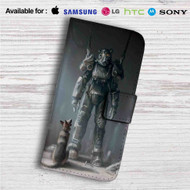 Fallout 4 Dogmeat & Power Armor Custom Leather Wallet iPhone 4/4S 5S/C 6/6S Plus 7| Samsung Galaxy S4 S5 S6 S7 Note 3 4 5| LG G2 G3 G4| Motorola Moto X X2 Nexus 6| Sony Z3 Z4 Mini| HTC ONE X M7 M8 M9 Case