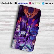 Gengar Pokemon Custom Leather Wallet iPhone 4/4S 5S/C 6/6S Plus 7| Samsung Galaxy S4 S5 S6 S7 Note 3 4 5| LG G2 G3 G4| Motorola Moto X X2 Nexus 6| Sony Z3 Z4 Mini| HTC ONE X M7 M8 M9 Case