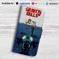 Gravity Falls as Jaws Custom Leather Wallet iPhone 4/4S 5S/C 6/6S Plus 7| Samsung Galaxy S4 S5 S6 S7 Note 3 4 5| LG G2 G3 G4| Motorola Moto X X2 Nexus 6| Sony Z3 Z4 Mini| HTC ONE X M7 M8 M9 Case