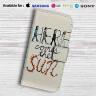Here Comes The Sun The Beatles Custom Leather Wallet iPhone 4/4S 5S/C 6/6S Plus 7| Samsung Galaxy S4 S5 S6 S7 Note 3 4 5| LG G2 G3 G4| Motorola Moto X X2 Nexus 6| Sony Z3 Z4 Mini| HTC ONE X M7 M8 M9 Case