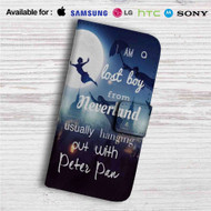 I am a Lost Boy from Neverland Peter Pan Custom Leather Wallet iPhone 4/4S 5S/C 6/6S Plus 7| Samsung Galaxy S4 S5 S6 S7 Note 3 4 5| LG G2 G3 G4| Motorola Moto X X2 Nexus 6| Sony Z3 Z4 Mini| HTC ONE X M7 M8 M9 Case