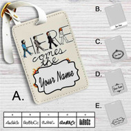 Here Comes The Sun The Beatles Custom Leather Luggage Tag