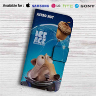 Ice Age Collision Course Astro Nut Custom Leather Wallet iPhone 4/4S 5S/C 6/6S Plus 7| Samsung Galaxy S4 S5 S6 S7 Note 3 4 5| LG G2 G3 G4| Motorola Moto X X2 Nexus 6| Sony Z3 Z4 Mini| HTC ONE X M7 M8 M9 Case