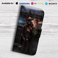 Iron Maiden Stranger in Strange Land Custom Leather Wallet iPhone 4/4S 5S/C 6/6S Plus 7  Samsung Galaxy S4 S5 S6 S7 Note 3 4 5  LG G2 G3 G4  Motorola Moto X X2 Nexus 6  Sony Z3 Z4 Mini  HTC ONE X M7 M8 M9 Case
