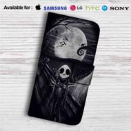 Jack Skellington The Scream Custom Leather Wallet iPhone 4/4S 5S/C 6/6S Plus 7| Samsung Galaxy S4 S5 S6 S7 Note 3 4 5| LG G2 G3 G4| Motorola Moto X X2 Nexus 6| Sony Z3 Z4 Mini| HTC ONE X M7 M8 M9 Case