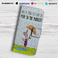 Piglet Winnie The Pooh Custom Leather Wallet iPhone 4/4S 5S/C 6/6S Plus 7| Samsung Galaxy S4 S5 S6 S7 Note 3 4 5| LG G2 G3 G4| Motorola Moto X X2 Nexus 6| Sony Z3 Z4 Mini| HTC ONE X M7 M8 M9 Case