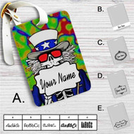 Make America Grateful Dead Custom Leather Luggage Tag
