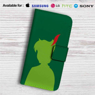 Silhouette of Peter Pan Disney Custom Leather Wallet iPhone 4/4S 5S/C 6/6S Plus 7| Samsung Galaxy S4 S5 S6 S7 Note 3 4 5| LG G2 G3 G4| Motorola Moto X X2 Nexus 6| Sony Z3 Z4 Mini| HTC ONE X M7 M8 M9 Case