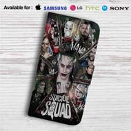 Suicide Squad Characters Custom Leather Wallet iPhone 4/4S 5S/C 6/6S Plus 7| Samsung Galaxy S4 S5 S6 S7 Note 3 4 5| LG G2 G3 G4| Motorola Moto X X2 Nexus 6| Sony Z3 Z4 Mini| HTC ONE X M7 M8 M9 Case