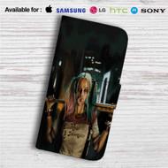 Suicide Squad Harley Quinn Custom Leather Wallet iPhone 4/4S 5S/C 6/6S Plus 7| Samsung Galaxy S4 S5 S6 S7 Note 3 4 5| LG G2 G3 G4| Motorola Moto X X2 Nexus 6| Sony Z3 Z4 Mini| HTC ONE X M7 M8 M9 Case