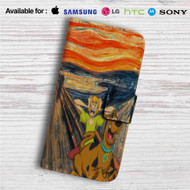 Scooby Doo The Scream Custom Leather Wallet iPhone 4/4S 5S/C 6/6S Plus 7| Samsung Galaxy S4 S5 S6 S7 Note 3 4 5| LG G2 G3 G4| Motorola Moto X X2 Nexus 6| Sony Z3 Z4 Mini| HTC ONE X M7 M8 M9 Case