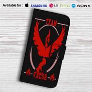 Team Valor Pokemon Go Custom Leather Wallet iPhone 4/4S 5S/C 6/6S Plus 7| Samsung Galaxy S4 S5 S6 S7 Note 3 4 5| LG G2 G3 G4| Motorola Moto X X2 Nexus 6| Sony Z3 Z4 Mini| HTC ONE X M7 M8 M9 Case