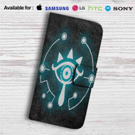 The Legend of Zelda Sheikah Custom Leather Wallet iPhone 4/4S 5S/C 6/6S Plus 7| Samsung Galaxy S4 S5 S6 S7 Note 3 4 5| LG G2 G3 G4| Motorola Moto X X2 Nexus 6| Sony Z3 Z4 Mini| HTC ONE X M7 M8 M9 Case