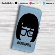 Tina Belcher Uhh Bobs Burgers Custom Leather Wallet iPhone 4/4S 5S/C 6/6S Plus 7| Samsung Galaxy S4 S5 S6 S7 Note 3 4 5| LG G2 G3 G4| Motorola Moto X X2 Nexus 6| Sony Z3 Z4 Mini| HTC ONE X M7 M8 M9 Case